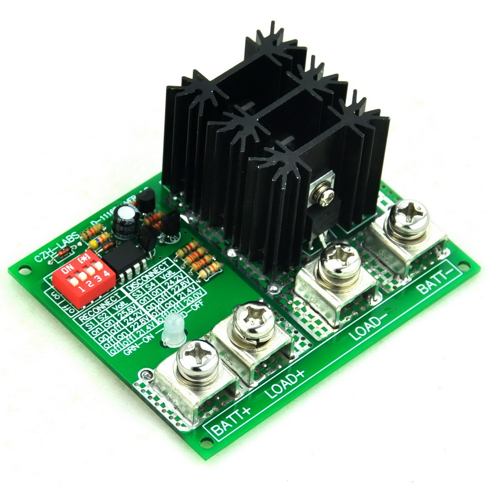 Low Voltage Disconnect Module LVD, 24V 80A, Protect/Prolong Battery Life.