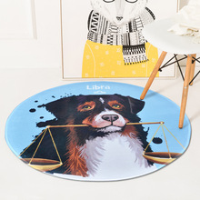 Nordic INS Constellation dog round floor mat home bedroom bedside entrance elevator floor mat sofa coffee table anti slip carpet fashion round carpet bedroom ins bedroom living room coffee table mat bedside carpet anti slip mat strong absorbent carpet