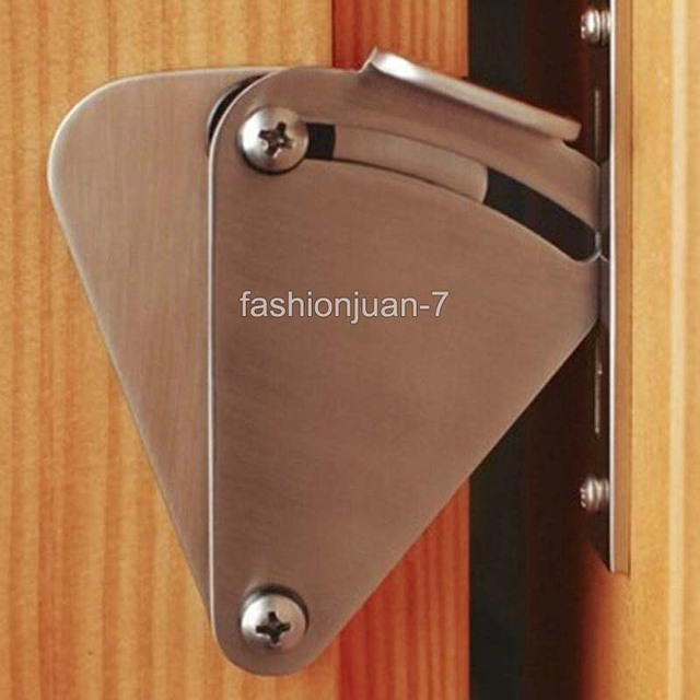 Superbe High Quality 6PCS/lot Stainless Steel Lock For Sliding Barn Door Wood Door  Latch