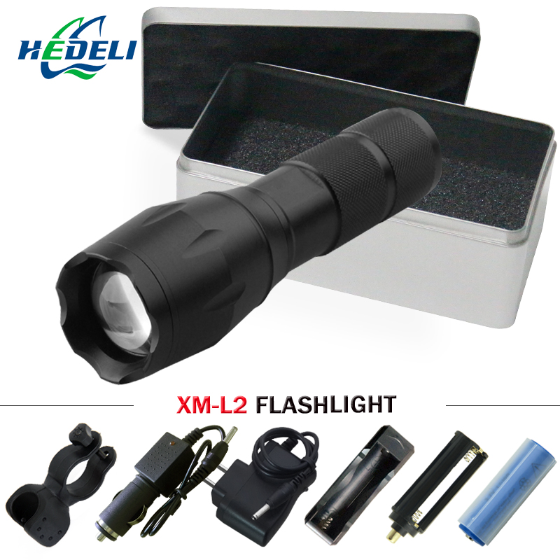 Lights & Lighting Police Tactical Led Flashlight Torch Lamp Cree Xm L2 5 Mode Waterproof Zoomable Focus Lanterna Led Hand Lamp Torch 18650 Led Flashlights
