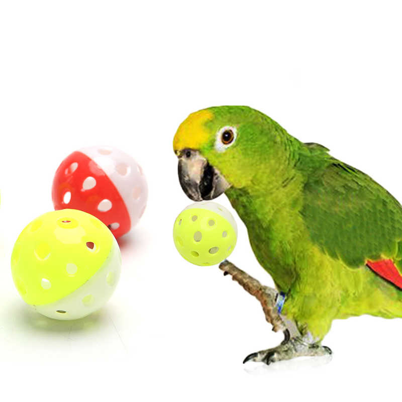 1 pc Pet Parrot Toy Bird Hollow Bell Ball สำหรับ Parakeet Cockatiel เคี้ยวกรงของเล่นสีสุ่ม