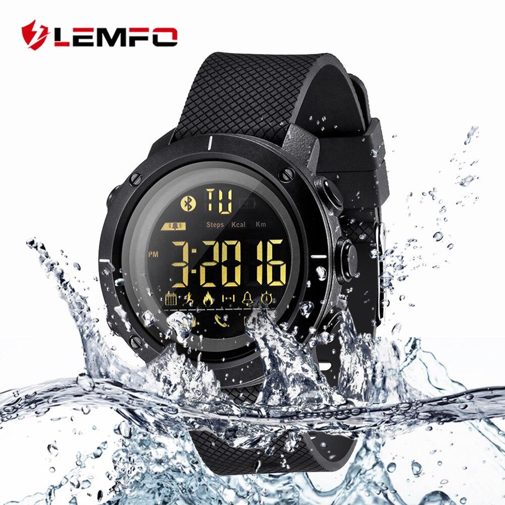 LEMFO LF19 50 Meters Waterproof Smart Watch Pedometer
