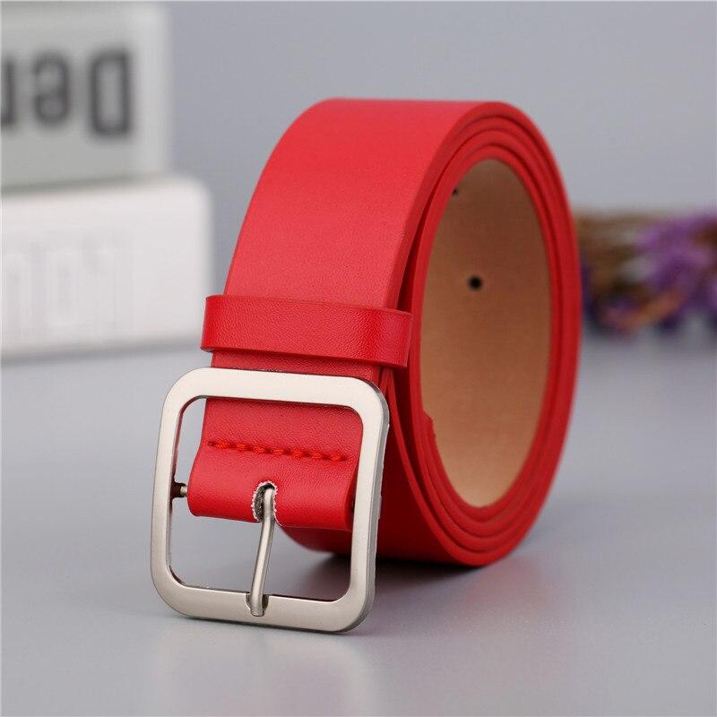 NO. ONEPAUL ремень женский японский пряжка украшение элегантный простой дикий студенческий ретро джинсы дизайн женский ремень - Цвет: OPP01  red