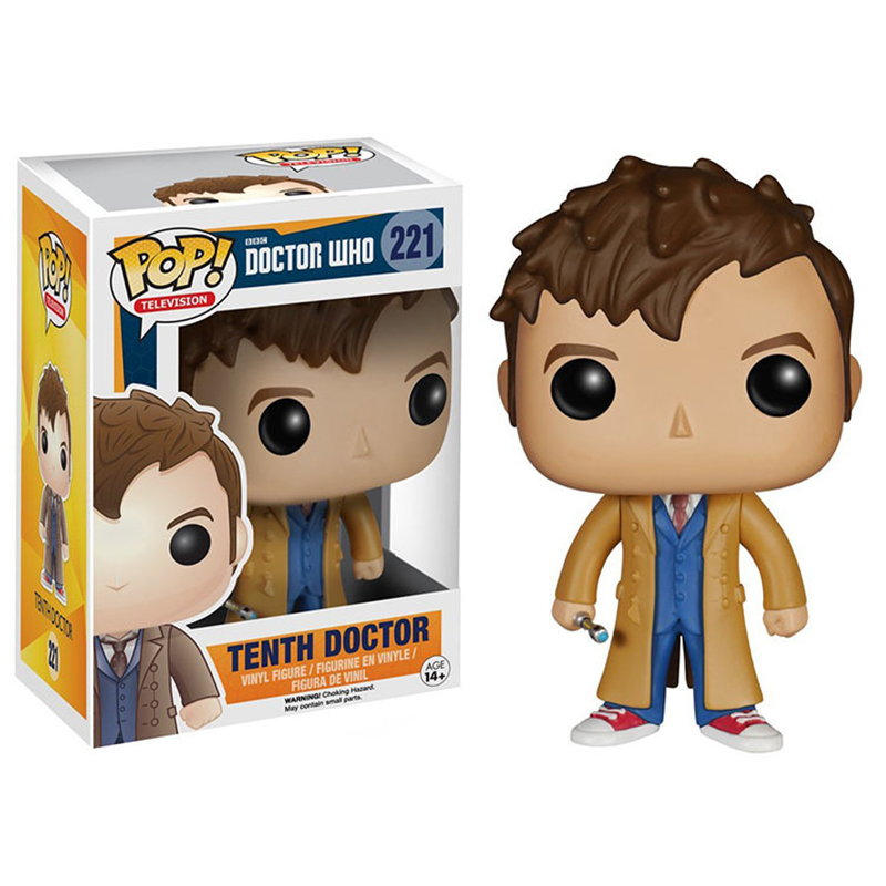 FUNKO POP 10cm Doctor Who Eleventh Doctor Mr Clever 356 & Tenth Doctor 221# Vinyl Collectible Action Figures Model Toys
