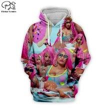 Sexy lady Hip-Hop singer Nicki Minaj collage 3d printed Hoodies Women/Men Long Sleeve Sweatshirt zipper harajuku fashion Hooded