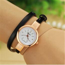 2016 new lovely ladies watches, leather strap winding watch, fashion quartz female form Woman's gift
