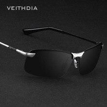 Бренд VEITHDIA, дизайнерские поляризованные мужские солнцезащитные очки, без оправы, солнцезащитные очки, очки для мужчин, oculos de sol masculino 3043