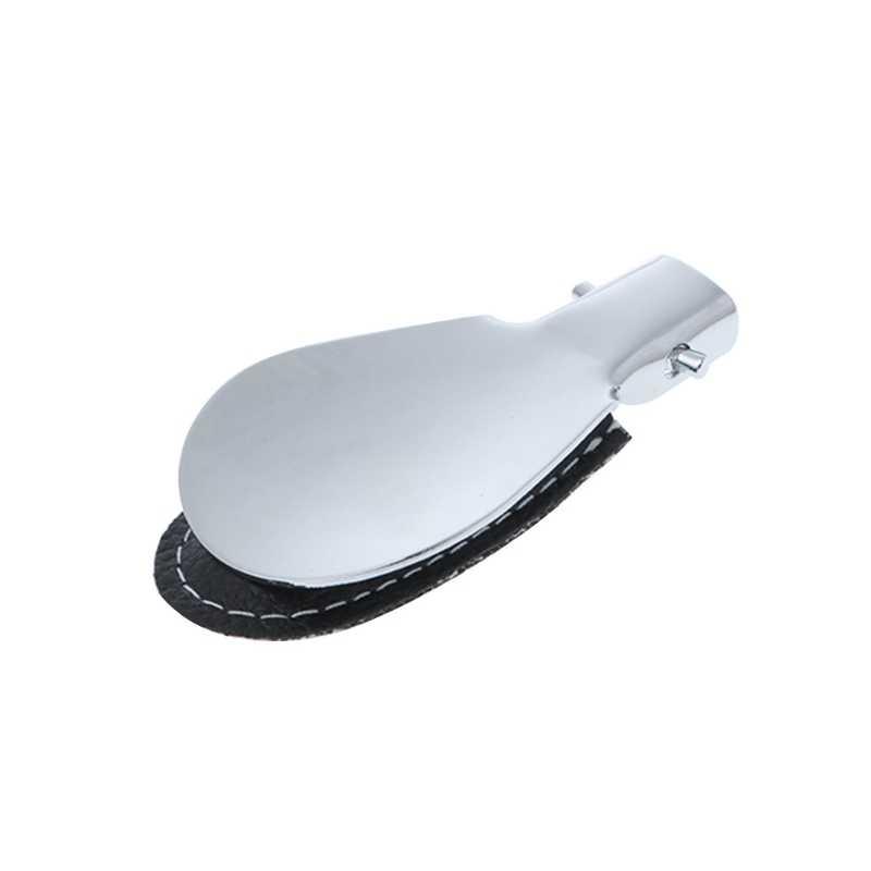 Schwarz Folding Schuhlöffel Metall Durable Mit Edelstahl Faux Leder Tragbare Mode Schuh Hörner Zubehör 2019