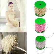5 Meters Fishing Line artificial flowers Pearls Beads Chain Garland Flowers DIY wedding decoration Hair flowers