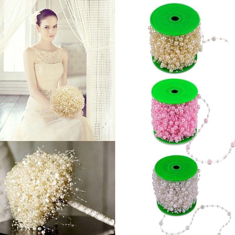 5 Meters font b Fishing b font font b Line b font artificial flowers Pearls Beads