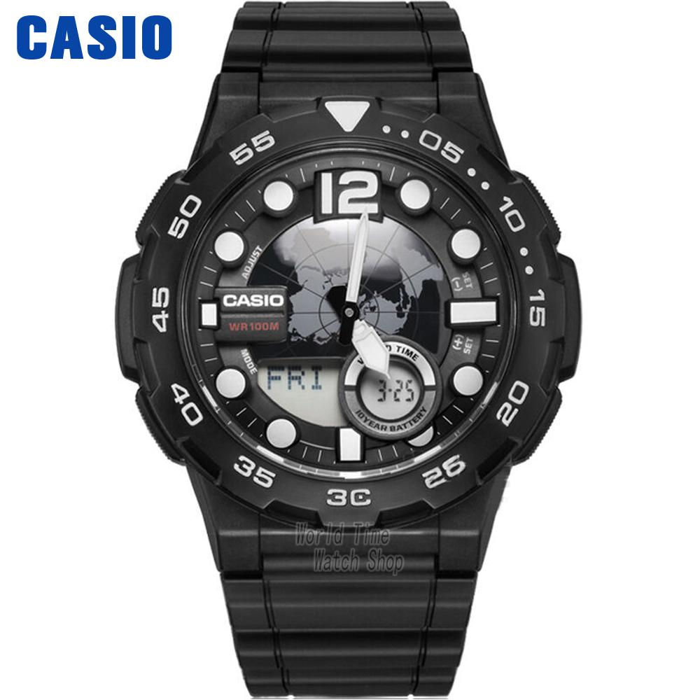 Casio Watch Outdoor Sports Waterproof Electronic Men's Watch AEQ-100W-1A casio aeq 100w 2a