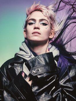 """MX07412 Grimes-cartel de 14 """"x 19"""" con música electrónica de Canadá Synthpop"""