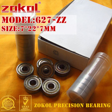 ZOKOL 627 ZZ 2RS Z1 подшипник 627ZZ миниатюрный 627RS глубокий шаровой подшипник 7*22*7 мм