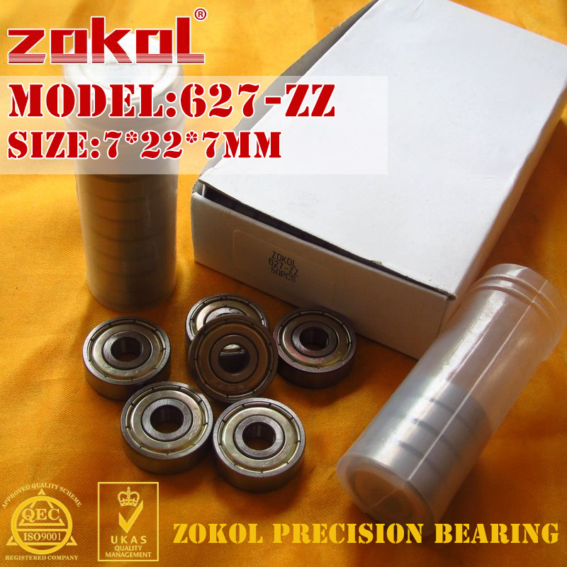 ZOKOL 627 ZZ 2RS Z1 Bearing 627ZZ Miniature 627RS Deep Groove Ball Bearing 7*22*7mm