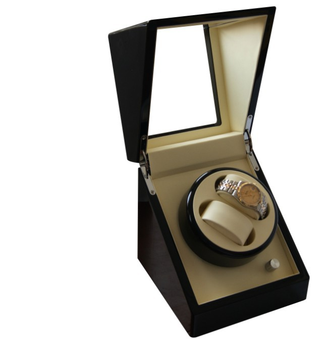 2+0 top quality Glossy Wood Watch Winder Box все цены