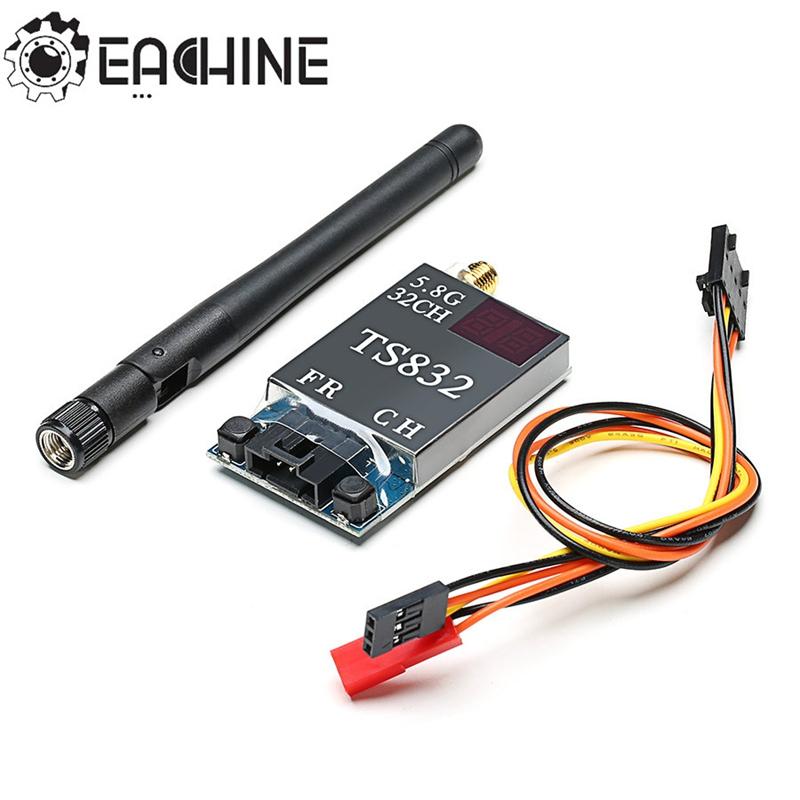 Eachine TS832 Boscam FPV 5.8G 32CH 600mW 7.4-16V Wireless AV Transmitter For FPV Multirotor Part eachine ts840 5 8g 40ch 600mw fpv av transmitter module