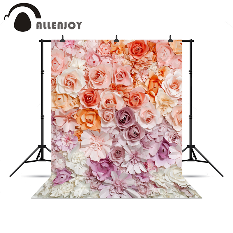 Allenjoy photographic HD studio photo pink flower pretty backgrounds wedding bride background for photocall photo studio camera