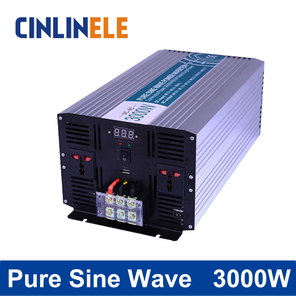 Pure Sine Wave Inverter 3000W CLP3000A DC 12V 24V 48V to AC 110V 220V Smart Series Solar Power Off grid 3000W Surge Power 6000W good perormance imported components 3000w vehicle power inverter 12v 24v 48v to ac 110v 220v 230v pure sine wave inverter