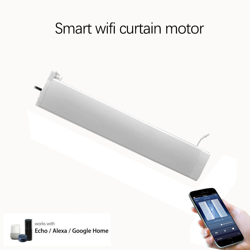 Smart WIFI silent curtain motor remote App control electric motor for smart home support Alexa google