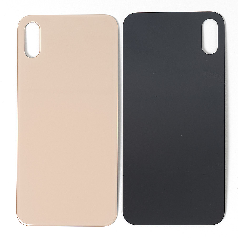 High Quality For iphone 8 8 Plus X XR XS Back Glass Housing + Adhesive Rear Crystal Panel Plate Battery Cover Lid Shell 7