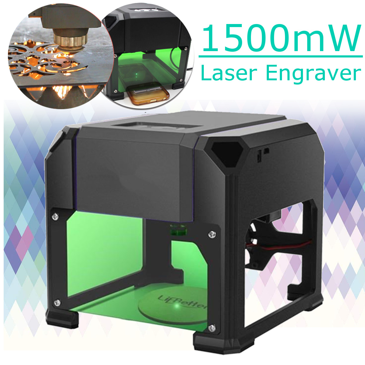 1500mw USB Desktop Laser Engraving Machine DIY Logo Marking Engraver CNC Laser Carving Machine 80x80mm Engraving Range кпб b 10