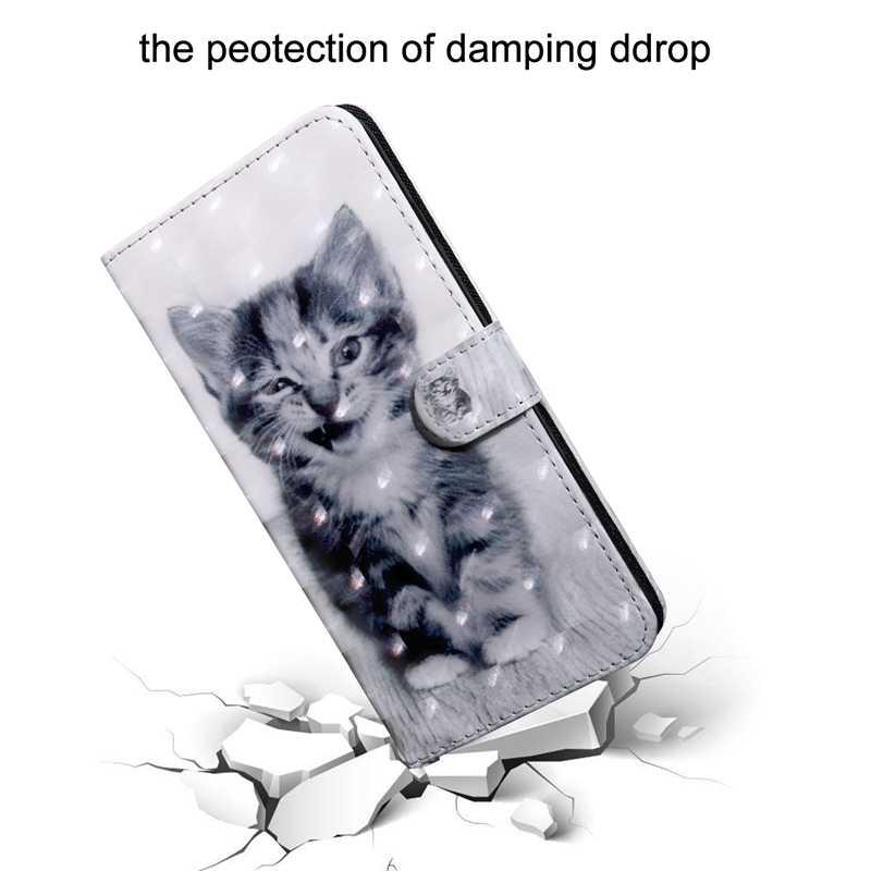 Чехол-книжка для Coque sony xperia 10 Plus милый кот кожаный кошелек для телефона Soni E xperia 10 Plus I3213 I4213 чехол Etui