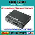 Fibra Óptica Media Converter 10/100 Mbps RJ45 Conversor 25 KM Duplex SC 1310/1550nm SM