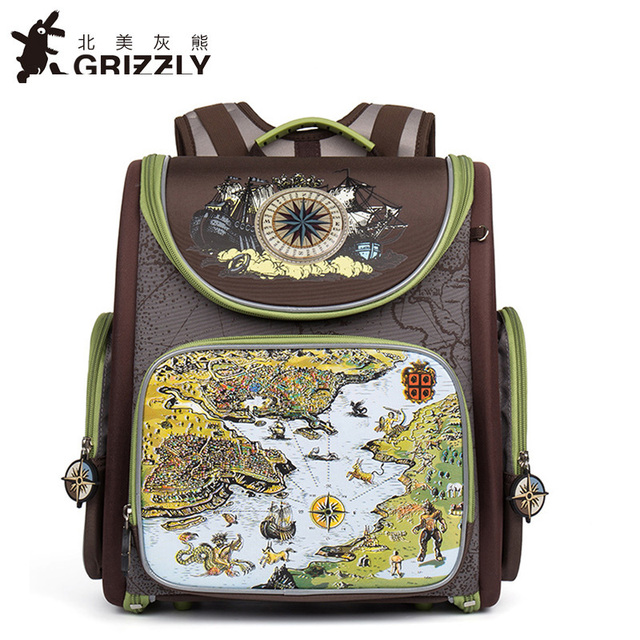 Grizzly Russian Big Brand Children School Bags for Boy Military ...