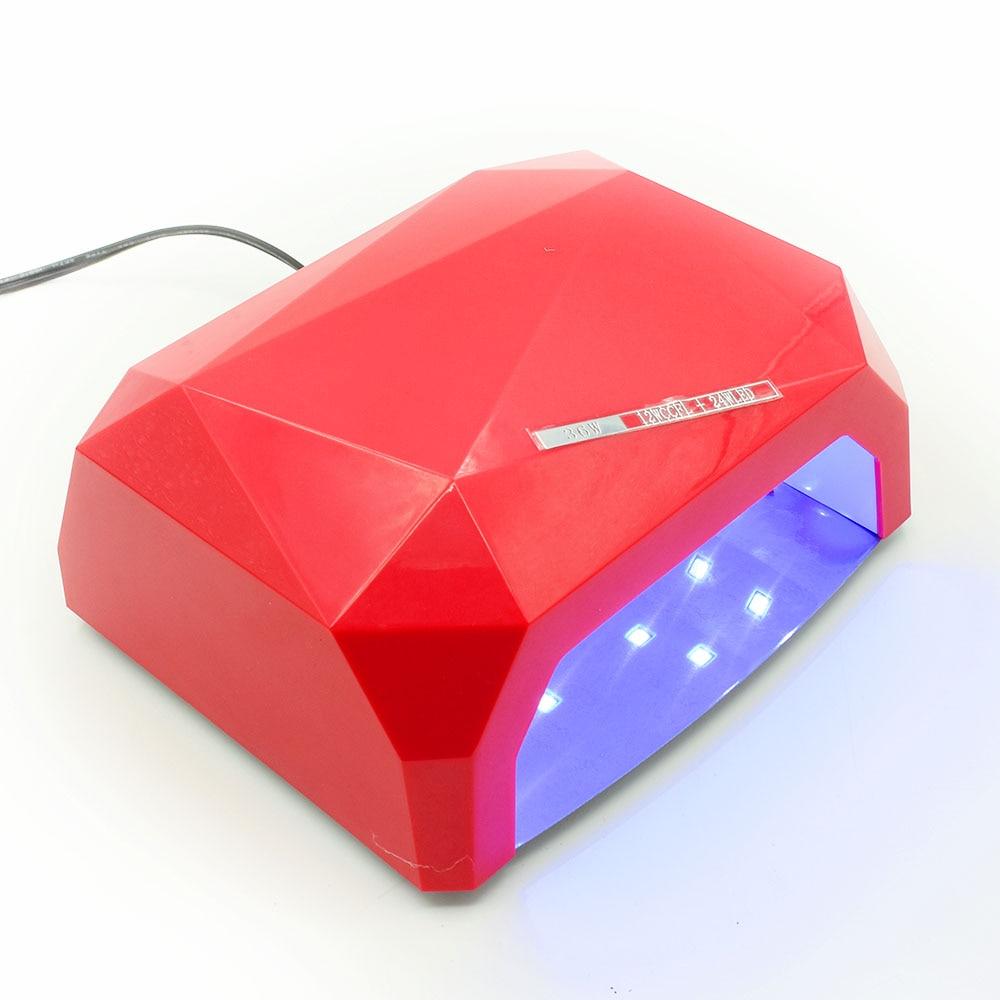 36W UV Led Lamp Nail Dryer Diamond Shaped LED UV Lamp Nail Lamp Curing for UV LED Gel Nails Polish Nail Art Tools