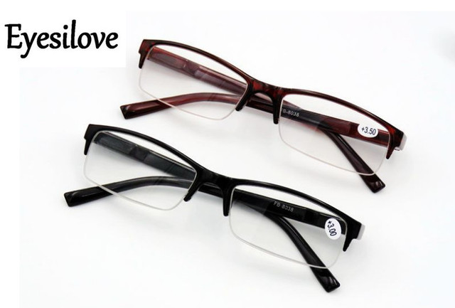 Eyesilove half-rim plastic Reading Glasses Men Women good quality Presbyopic Eyeglasses lenses degree +1.0 to +4.0 factory price