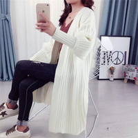 Korean Elegant Knitted Loose Sweaters Winter Women Casual V Neck Long Sleeve Sweater Cardigan Female Solid Color Oversize Jumper