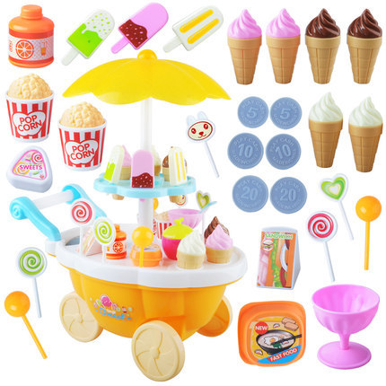 Funny Toy Mini Candy Icecream Car Light Music Girl Gift Pink Educational Soft Montessori Interactive Toys Environmental Gifts