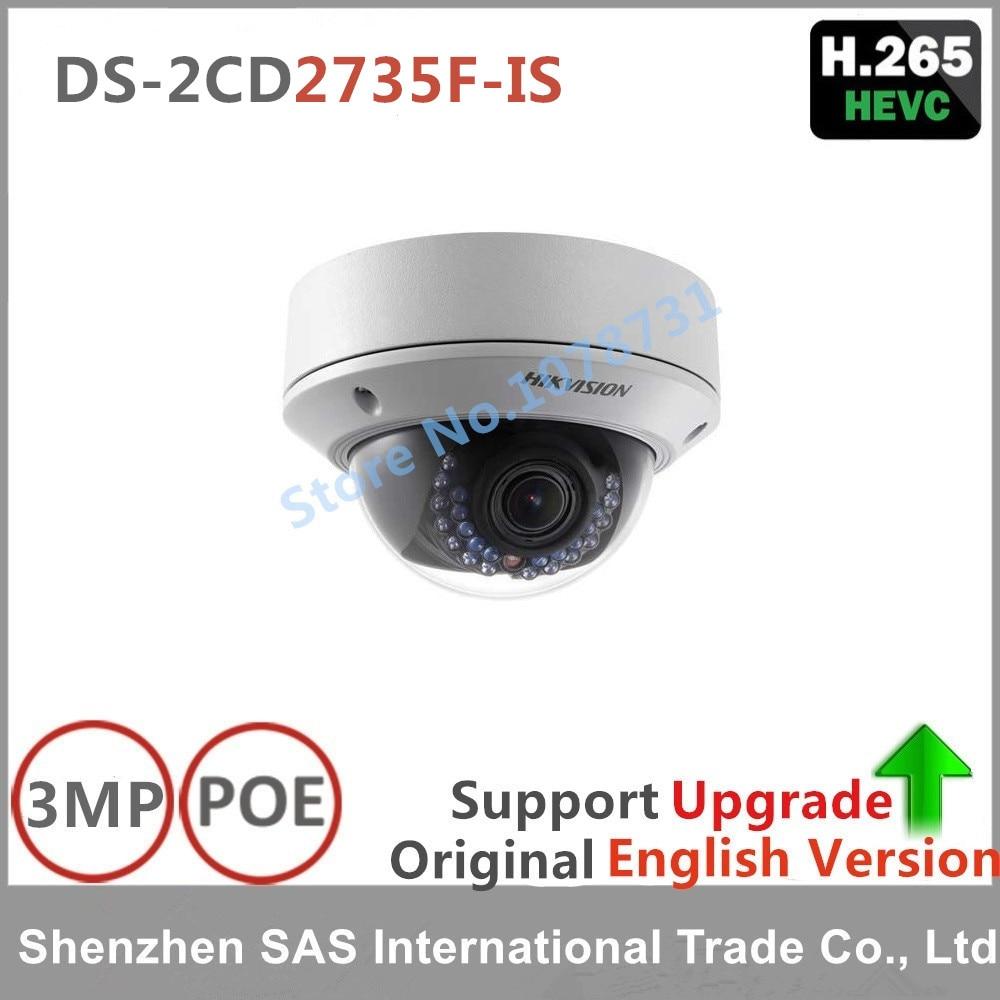 Hikvision DS-2CD2735F-IS 3MP varifocal zoom IP dome camera play H.265 POE outdoor surveillance camera Replace DS-2CD2732F-IS удлинитель zoom ecm 3