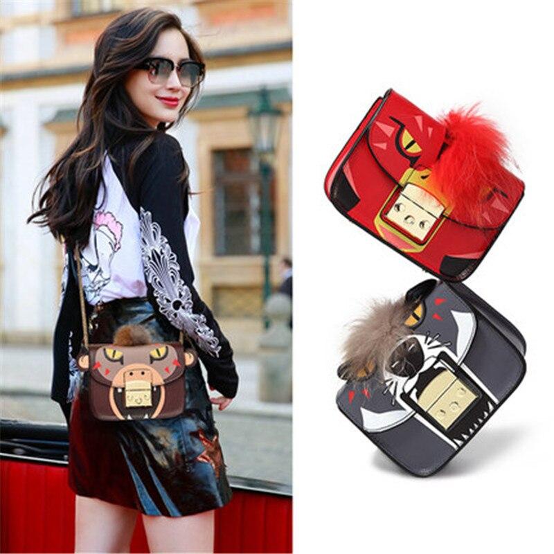 Leather trumpet Messenger bag luxury handbags handbags designer female mini Messenger bag women bag цены