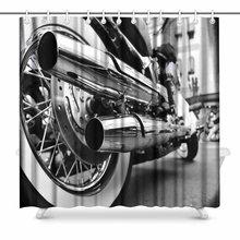 Аплисия мотоцикл выхлопной ванной Аксессуары занавеска для душа 72W X 72L дюймов