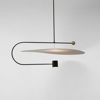 Post-modern Minimalist Led Pendant Light Concise Designer Restaurant Dining Room Studio Suspension Light Fixtures Free Shipping