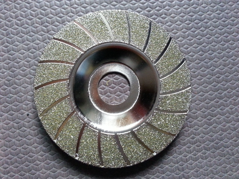 4''inch 100mm Electroplated Concave Diamond Grinding Disc Best Quality