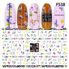 цена на 1 Sheet Nail Sticker Blooming Flowers 3D super thin Nail Art Stickers Decals Adhesive colorful Manicure Nail Art Tips Decoration