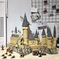 In Magazzino Harri Film Potter 6044 pcs Hogwarts Castello di Scuola Modello Compatibile con Legoings 71043 Set di Blocchi di Costruzione 16060