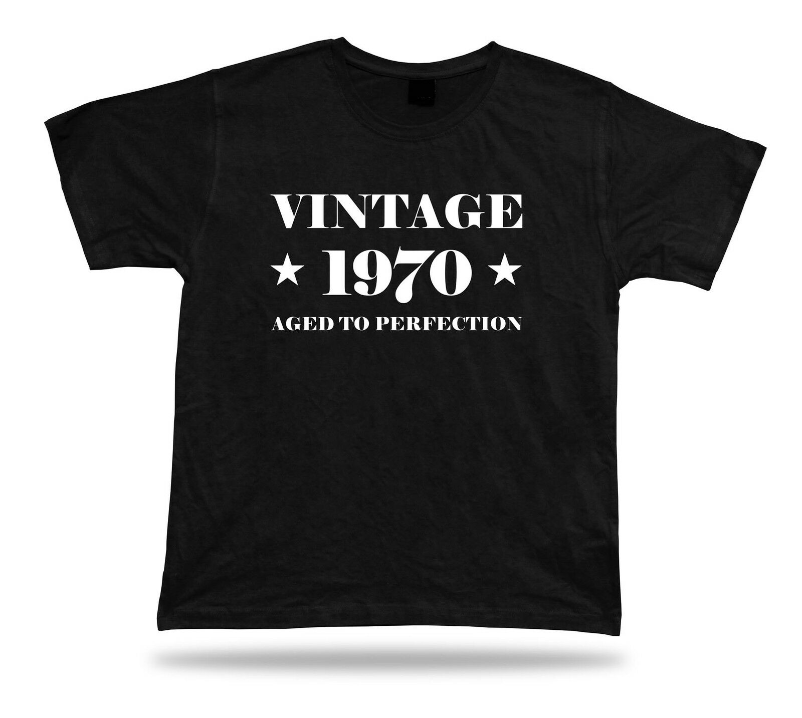 Printed T-shirt tee <font><b>vintage</b></font> <font><b>1970</b></font> aged happy birthday present gift idea original image