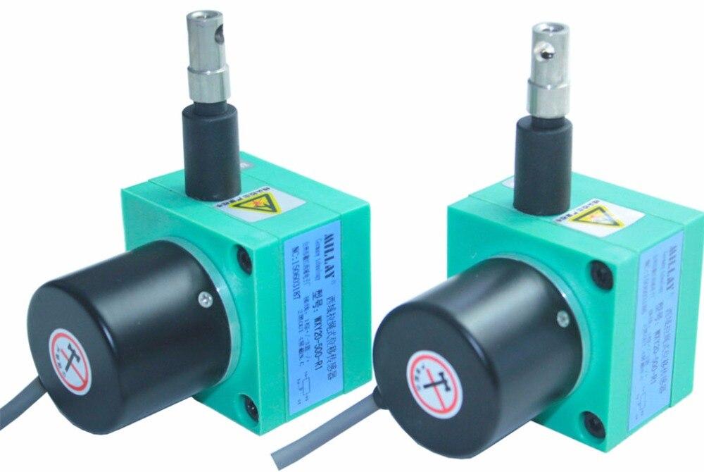 Capteur de position linéaire personnalisé capteur de traction fil de traction codeur câble codeur câble de traction capteur d'isolation capteur de déplacement linéaire