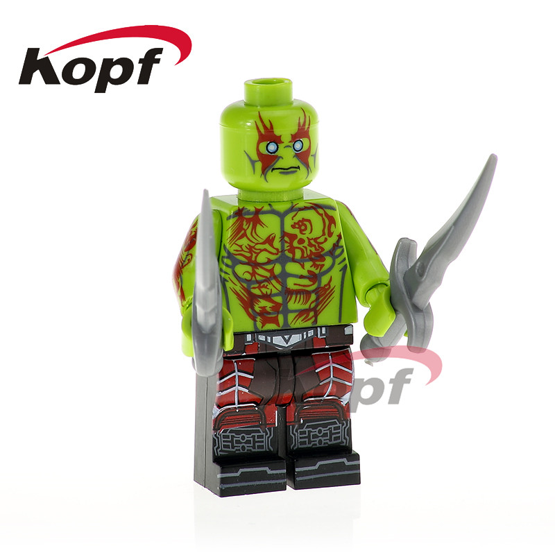 PG1179 Single Sale Super Heroes Drax The Destroyer Guardians Of The Galaxy Yondo Building Bricks Action For Children Gift Toys