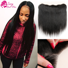 7A Straight Virgin Indian Lace Frontal Closure 13×4 Free Part Indian Ear To Ear Lace Frontal With Baby Hair USPS Free