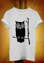 Owl Cute Funny Cool Hipster Men Women Unisex T Shirt Vest 1053 New Shirts Tops Tee