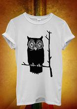 Owl Cute Funny Cool Hipster Men Women Unisex T Shirt Vest 1053 New Shirts Tops Tee
