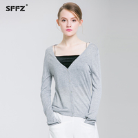 SFFZ 2019 New Arrivals Women Leisure Comfortable Knitted Sweaters Cardigans Open Stitch Button Fashion Sweater V Neck Thin Coat