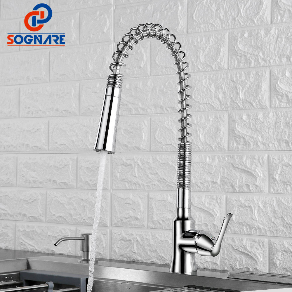 SOGNARE Mixer Kitchen Faucet Tap Kitchen Mixer Water Tap Single Handle Kitchen Taps Sink Faucet Chrome Brass Mixer for Kitchen цена 2017