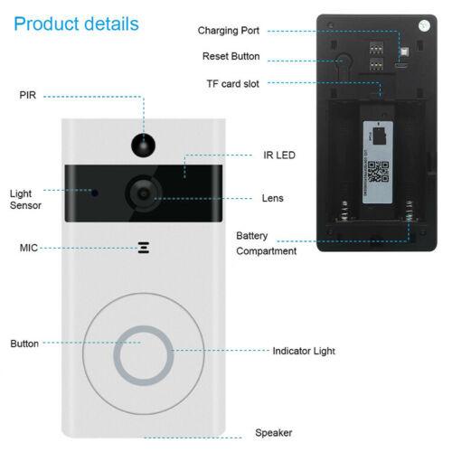 Умная беспроводная камера Wi-Fi для дверного звонка видео беспроводной дистанционный дверной звонок CCTV Chime Phone APP