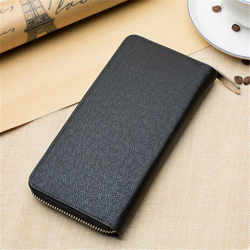 New Arrivals Men s Ms. PVC Leather Long Zipper Wallet Handbag Card Package Cash Card Holder Phone Cases Credit Card Wallet
