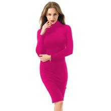Women Dress Slim Long Sleeve Bodycon
